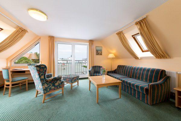 Juniorsuite mit Meerblick im Centralhotel Binz auf Rügen – Ostseeurlaub günstig und last minute buchen
