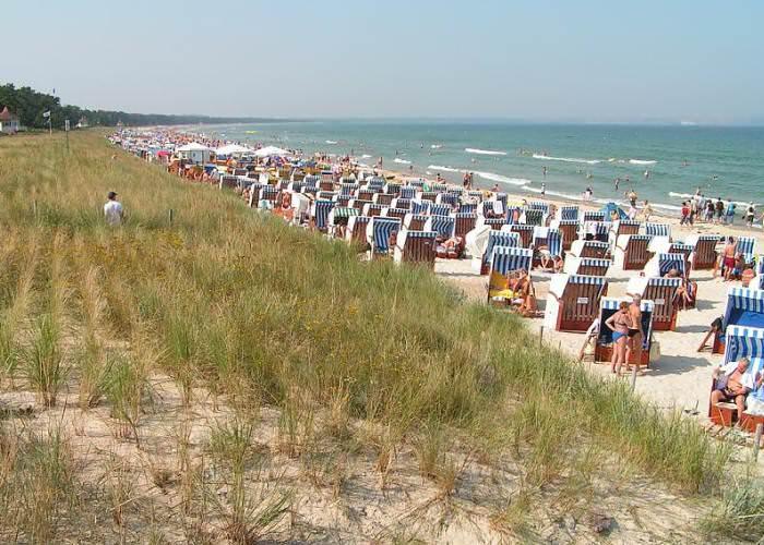 Urlaub am Meer – Strand zwischen Binz und Prora auf Rügen – Erholung Centralhotel Binz an der Ostsee