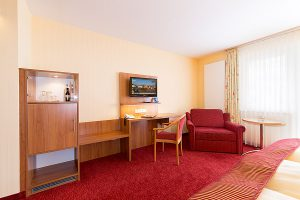 Ostseebad Binz auf der Insel Rügen – Ausstattung der Doppelzimmer im 3 Sterne Centralhotel