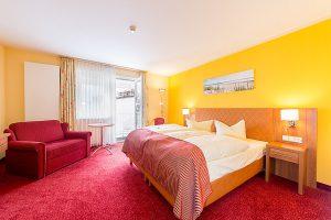 Centralhotel Binz auf der Insel Rügen – Urlaub an der Ostsee im Doppelzimmer mit Balkon des 3 Sterne Hotels