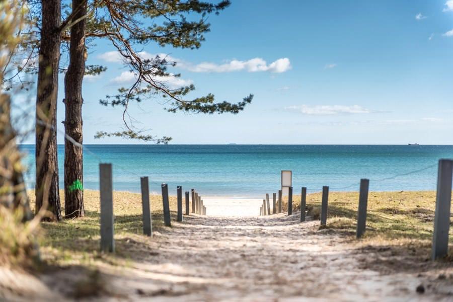 Sommerurlaub am Strand vom Ostseebad Binz auf Rügen