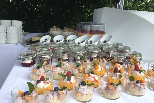 Nachtisch und Desert vom Buffet im Restaurant Plattdüütsch im Ostseebad Binz auf Rügen