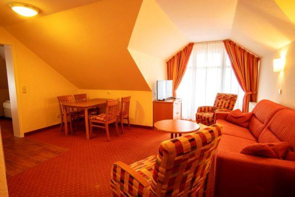 2-Raum-Appartement mit Badewanne in der Villa Mona Lisa im Ostseebad Binz auf Rügen