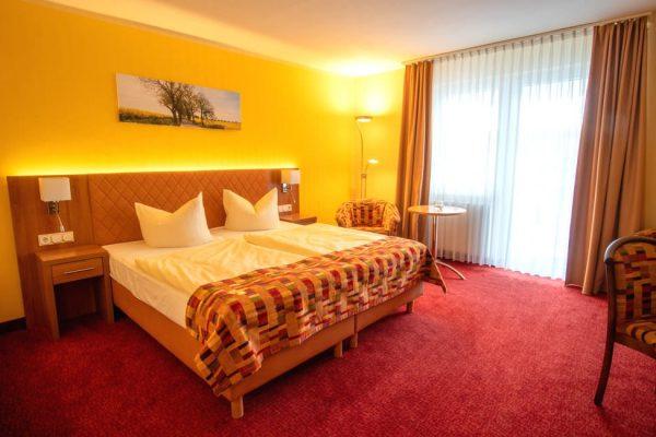 Ausstattung vom Doppelzimmer mit Balkon im Centralhotel in Binz auf Rügen