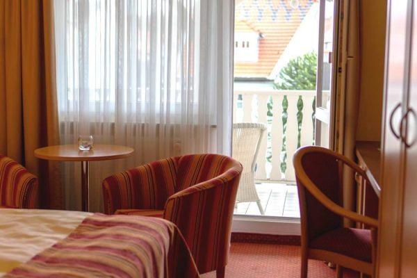 Doppelzimmer im Centralhotel Binz auf Rügen mit Balkon