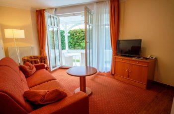 Wohnzimmer vom 2-Raum-Appartement der Villa Mona Lisa im Ostseebad Binz auf Rügen