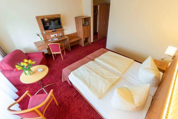 Schlafbereich im Doppelzimmer vom Centralhotel Binz auf Rügen
