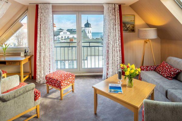 Junior-Suite mit Meerblick - Luxus-Apartment im Centralhotel Binz auf der Insel Rügen