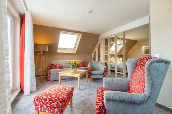 Sitzmöglichkeiten in der Suite im Centralhotel Binz auf der Insel Rügen